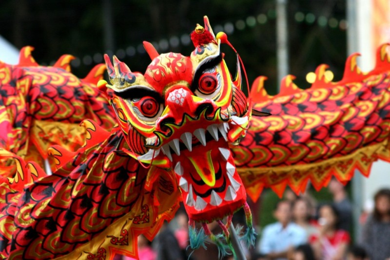 Image of Chinese Dragon and Chinese New Year Celebrations in Northern Ireland accompanying article Happy New Year To All?